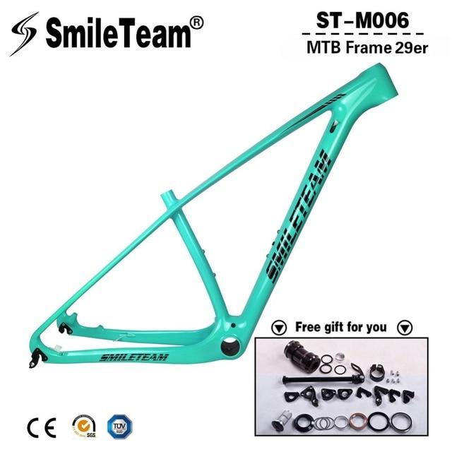 SmileTeam 27.5er 29er Full Carbon MTB Frame T1000 Carbon OEM Mountain Bike Frame 142*12 Thru Axle & 135*9 QR MTB Bicycle Frames