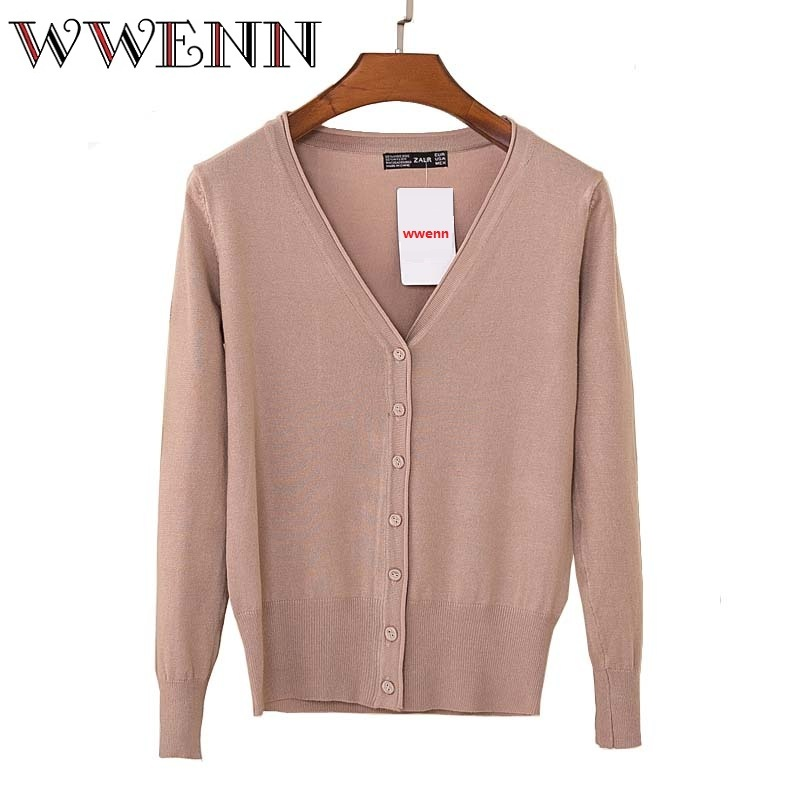 Women Sweater Cardigan 2017 New Fashion Autumn Winter Long Sleeve Loose Knitted Cardigan female Sweaters Long Coat 24 Color