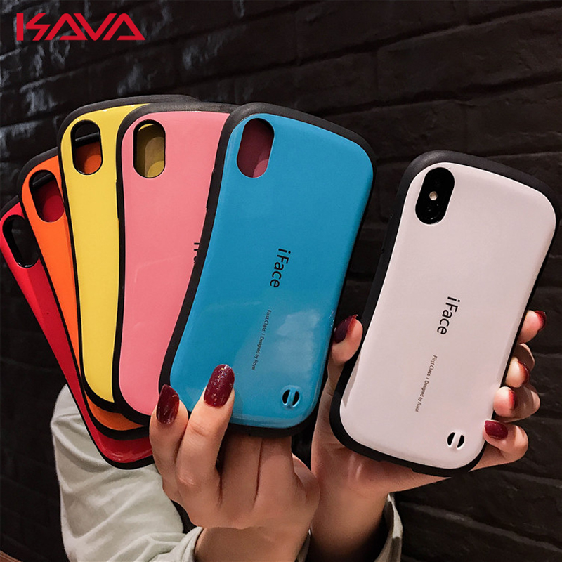 best website 13dc9 22a04 US $3.5 20% OFF|Japan tide brand iFace Shockproof phone case For iphone X  XS MAX XR TPU silicone Cover Cases for iphone 10 8 7 6S 6 Plus coque-in ...