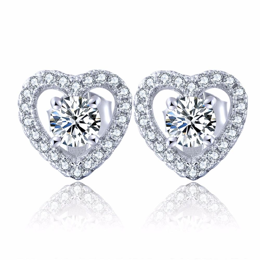 sterling silver stud earrings wholesale jewelry DE08310A (2)