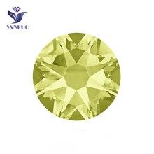 YANRUO #2088HF SS20 Jonquil 1440Pcs 8 Big Small Strass Hotfix Crystal Iron On Rhinestone Adhesive Flatback For Bags Decoration