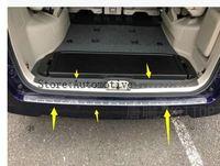 2 PCS Auto rear bumper protector trim interior for NISSAN SERENA C27 2016 2017 2018 ,auto chrome accessories