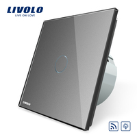 Livolo EU Standard Switch VL C701DR 15 Grey Glass Panel AC 220 250V Remote Dimmer Function