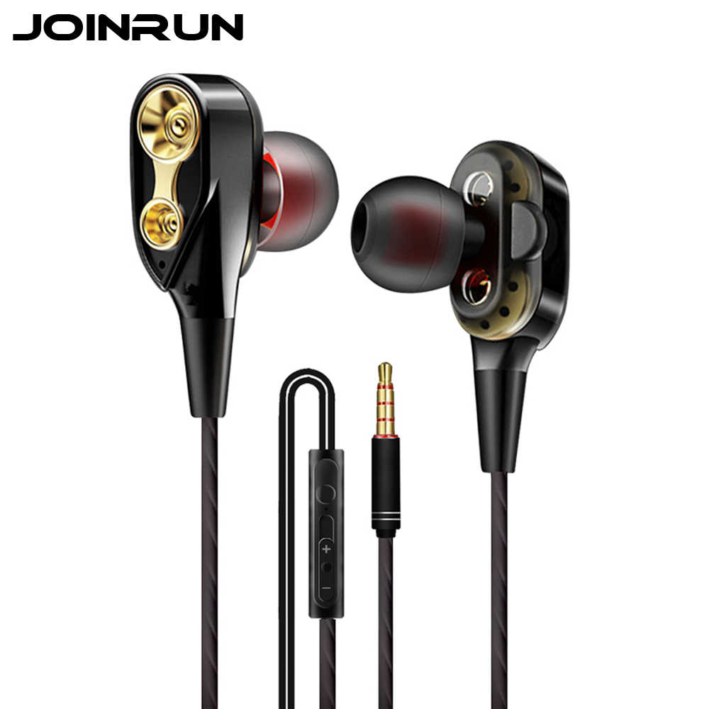 Joinrun In-Ear 3.5 Mm Earphone Mobile Phone Hi Fi Stereo Bass Earbud Earphone Musik Headset dengan MIC untuk Ponsel Xiaomi