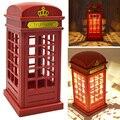 Retro London Telephone Booth LEVOU Bateria Operado lâmpada de Mesa Lâmpada de Cabeceira Luz Da Noite do Sensor de Toque USB Luz Noturna para Quarto Do Bebê