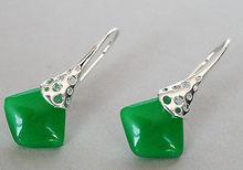 """Lady 's unique 925 argent vert naturel gem spciale crochet boucles d'oreilles 11/2 """""""