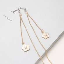 Pearl Flower Eyeglasses Chain Sunglasses Holder Reading Glasses Chain Retainer Cord Necklace String Rope vintage green oval pvc plastic ouch neck eyeglasses chain sunglasses retainer holder for women sport travel exercise