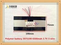 3 7V 6500mAH 3075190 PLIB Polymer Lithium Ion Battery Li Ion Battery For Tablet Pc Battery