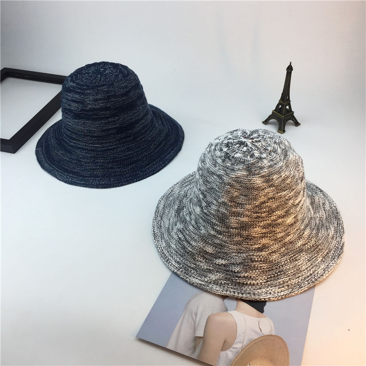 Summer New Style Hat Lady Cotton Collapsible Sun Protection Hat Outdoor Travel Casual Beach Bucket Hats ACF17 (7)