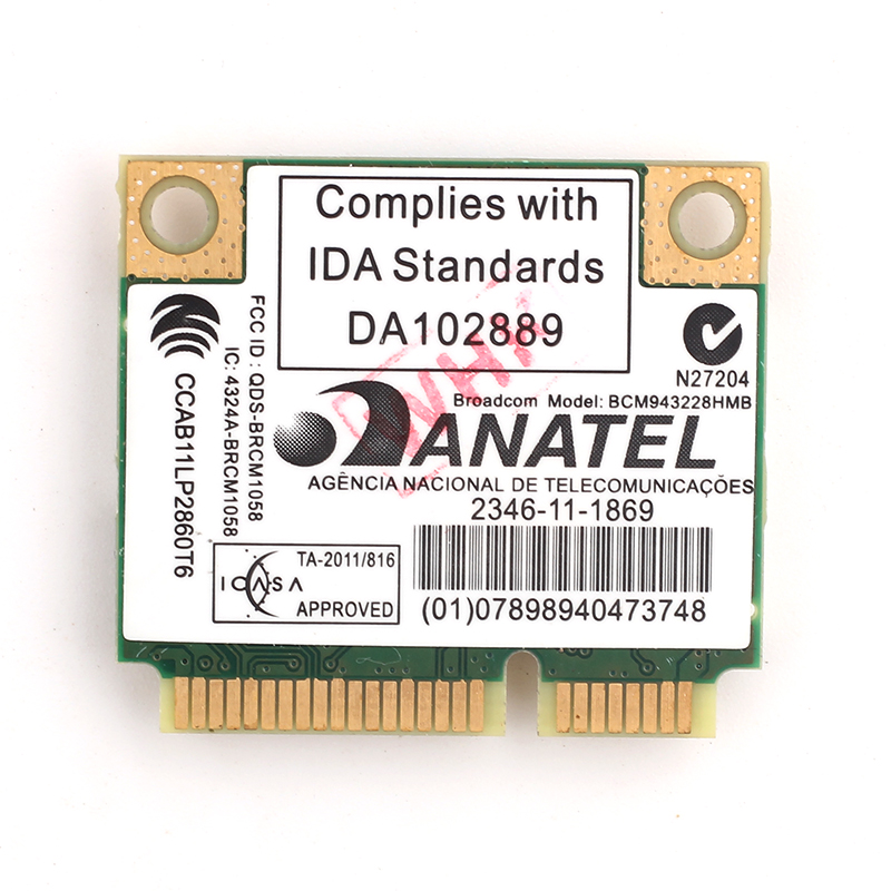 Dual Band Broadcom BCM943228HMB 802.11a/b/g/n 300Mbps Wifi Wireless Card Bluetooth 4.0 Half MINI pci e Notebook Wlan 2.4Ghz 5Ghz-in Network Cards from Computer & Office on Aliexpress.com | Alibaba Group