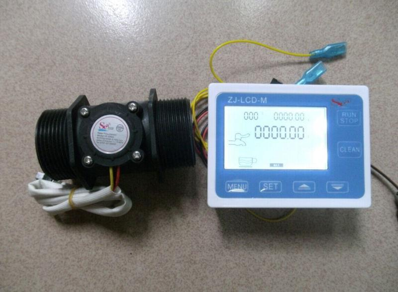 NEW 1.5 Flow Water Sensor Meter+Digital LCD Display control 1-120L/min
