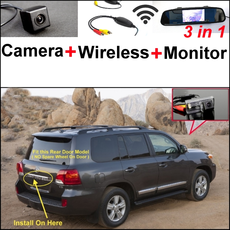 3 in1 Special Camera + Wireless Receiver + Mirror Monitor Back Up Parking System For TOYOTA Land Cruiser LC 200 LC200 2008~ 2014 wireless pager system 433 92mhz wireless restaurant table buzzer with monitor and watch receiver 3 display 42 call button