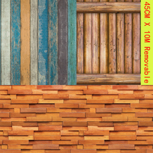 Vintage Wood Grain Block Wallpaper Self-adhesive Removable Wall Cover Stickers House Decor Home Bedroom Living Room Renovation vintage wood grain color block flannel rug