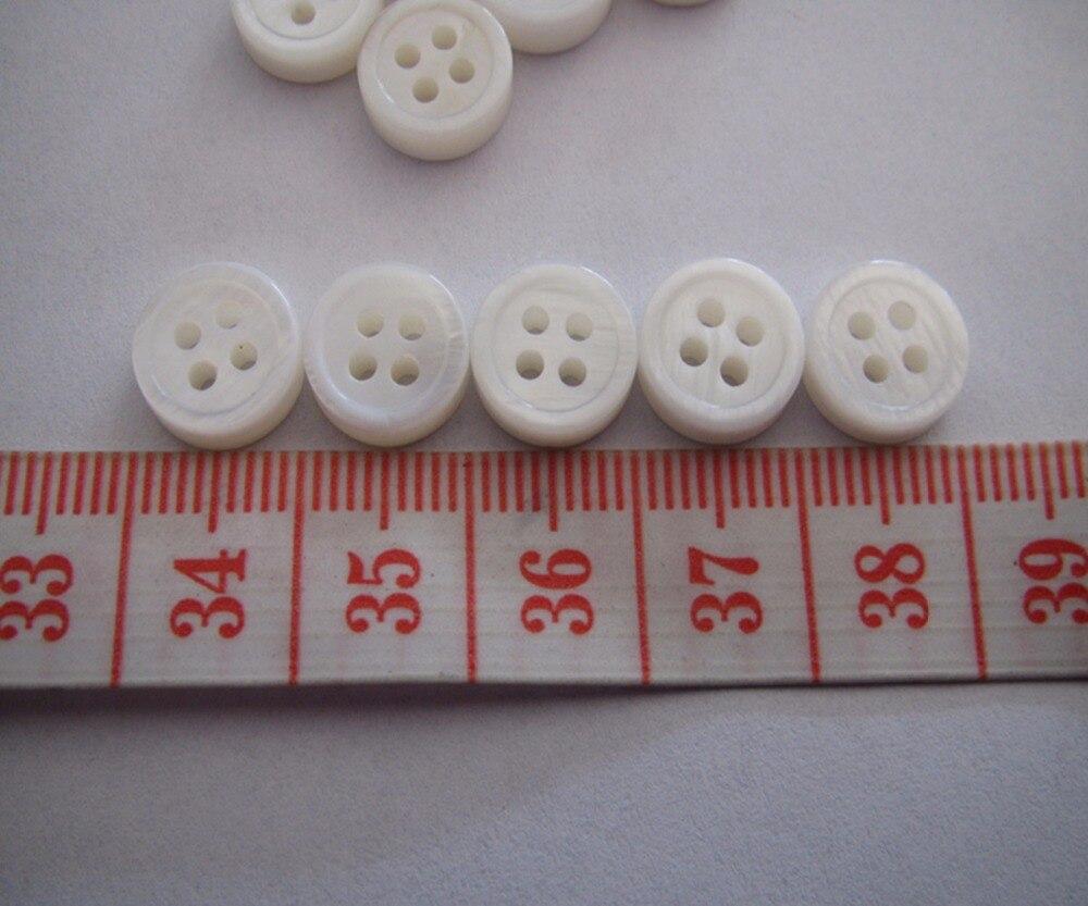 Бесплатная доставка 10 мм рубашку shell кнопку двойной белый край Круглый толщиной 3 мм модная блуза мать оболочки и пуговицы 100 шт.