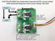 Aoweziic ACS770LCB-050B ACS770LCB ACS770 Two independent channels AC/ DC current detection module Rang:-50A-50A 50a