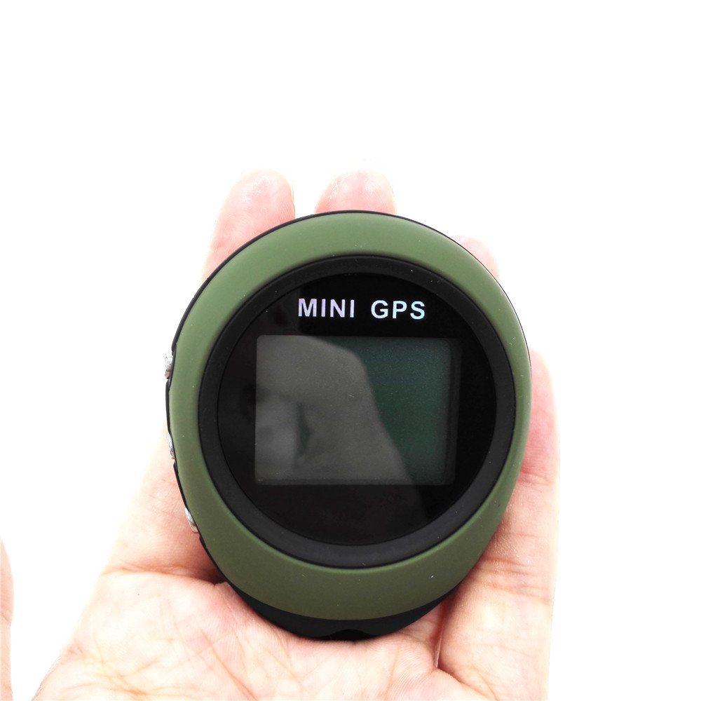 For Outdoor Sport Travel Mini GPS Receiver Navigation Handheld Location Finder USB Rechargeable with Compass