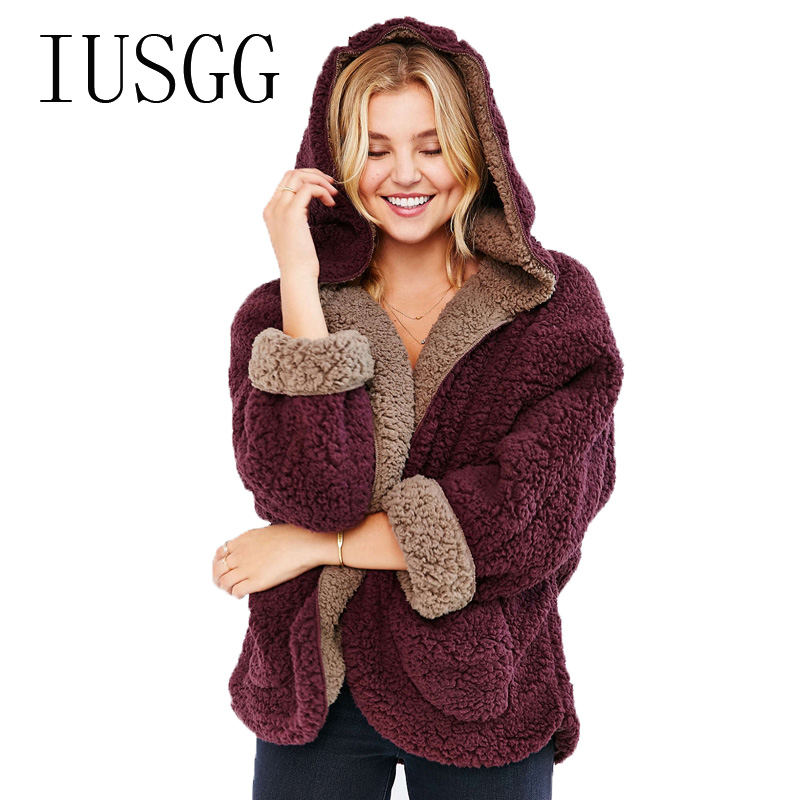 Femmes hiver agneaux laine manteau court porter des deux côtés vestes de fourrure filles gros BF agneaux décontracté épais manteaux peluche loisirs Cardigan