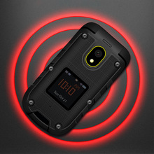 Ioutdoor F2 Three-Prevention Feature Slim Flip Rugged Waterproof Dual Display Docking Station SOS Torch LED Senior Mobile Phone