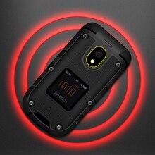 Ioutdoor F2 Üç Önleme Özelliği Ince Sağlam Su Geçirmez Çift Ekran Yerleştirme Istasyonu SOS Torch LED Kıdemli Cep Telefonu