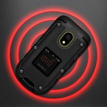 Ioutdoor F2 Тройная функция предотвращения, тонкий флип прочный водонепроницаемый двойной дисплей док станция SOS фонарь светодиодный мобильный телефон