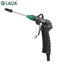 LAOA Blow gun Air gun Aluminum Alloy Jet gun Pneumatic High pressure Dust blow gun dg989 steel cleaning dust removing air blow gun silver