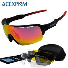 ACEXPNM Brand New Men Polarized Cycling Glasses Outdoor Sports Cycling Goggles T
