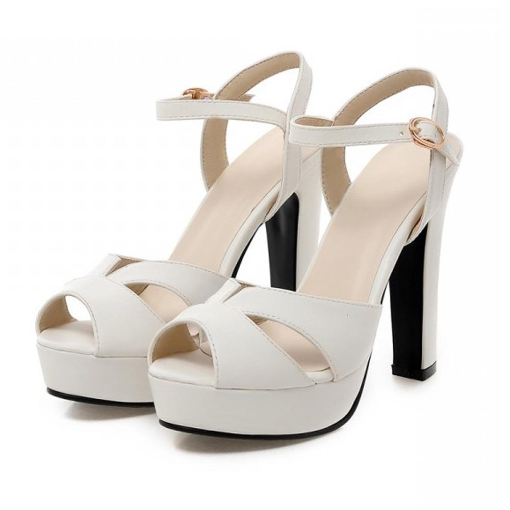 chunky heel platform sandals