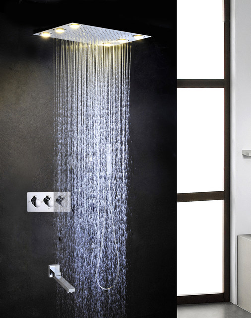 Online Shop 110V~220V AC Shower Head Rain Bath & Shower Hot And ...