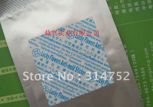 LUCKY FLOWER  anti-mold chip,anti-mold sticker used for shoes (2000pcs/roll, eco-friendly,inhibit bacterial effectively)