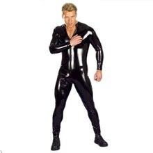 Sexy Leather Black Bodysuit