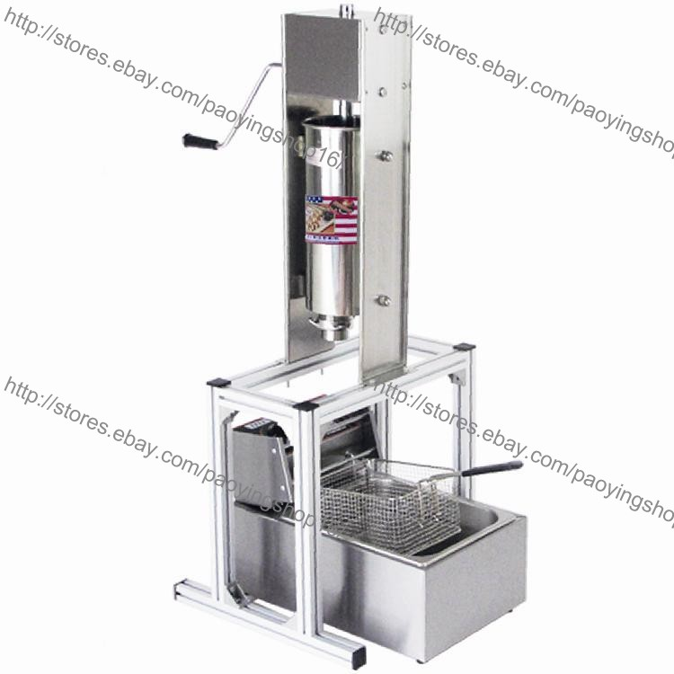 3-hole 4 Nozzles 5L Manual Spanish Donut Churros Churrera Maker Machine w// Stand