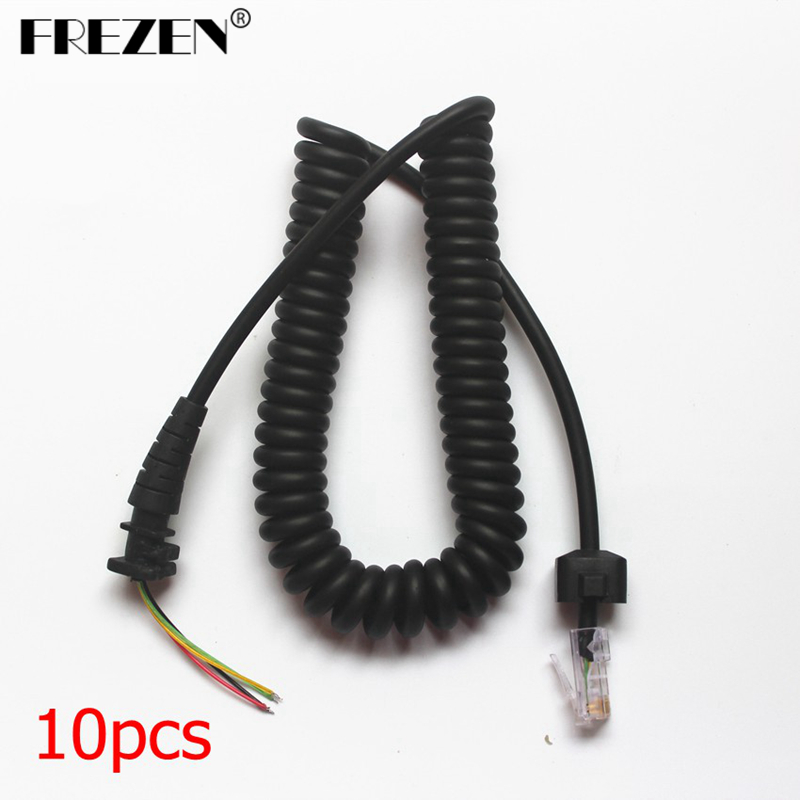 10pcs Replacement Handheld Mic Microphone Cable For Motorola Two Way Radios GM3688 GM338 GM300 GM3188 Repair