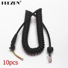10 pièces câble de Microphone de micro de poche de remplacement pour les Radios bidirectionnelles Motorola GM3688 GM338 GM300 GM3188 réparation en gros