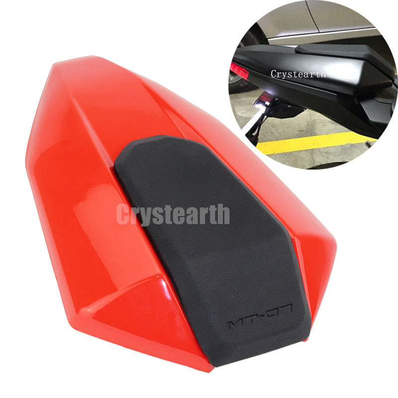 Red Motorcycle Motorbike Rear Seat Cover Fairing Cowl For Yamaha FZ-07 MT-07 2013 2014 2015 2016 FZ 07 MT 07 13 14 15 16 mt07 mt 07 rear seat cover cowl for yamaha mt 07 fz 07 fz07 2013 2014 2015 2016 2017 blue carbon fiber black rear seat cowl