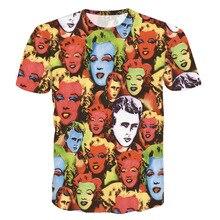 c8029d5fd20b 3D t-shirt Hommes T-shirts Sexy Déesse Marilyn Monroe Imprimé femmes T-shirt  Rétro style Harajuku T-shirts 2018 D été Nouvelle M..