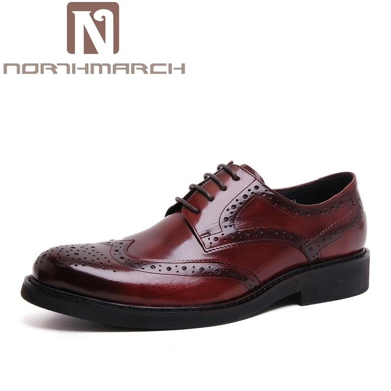 NORTHMARCH Men Derby Shoes 2018 Brand Classic Carved Mens Flats Business Pointed Toe Gentleman Men Leather Shoes HerenschoenenNORTHMARCH Men Derby Shoes 2018 Brand Classic Carved Mens Flats Business Pointed Toe Gentleman Men Leather Shoes Herenschoenen