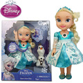 2016 NEW hot 34CM Elsa Best action figure lighted toys Cool Christmas gift doll