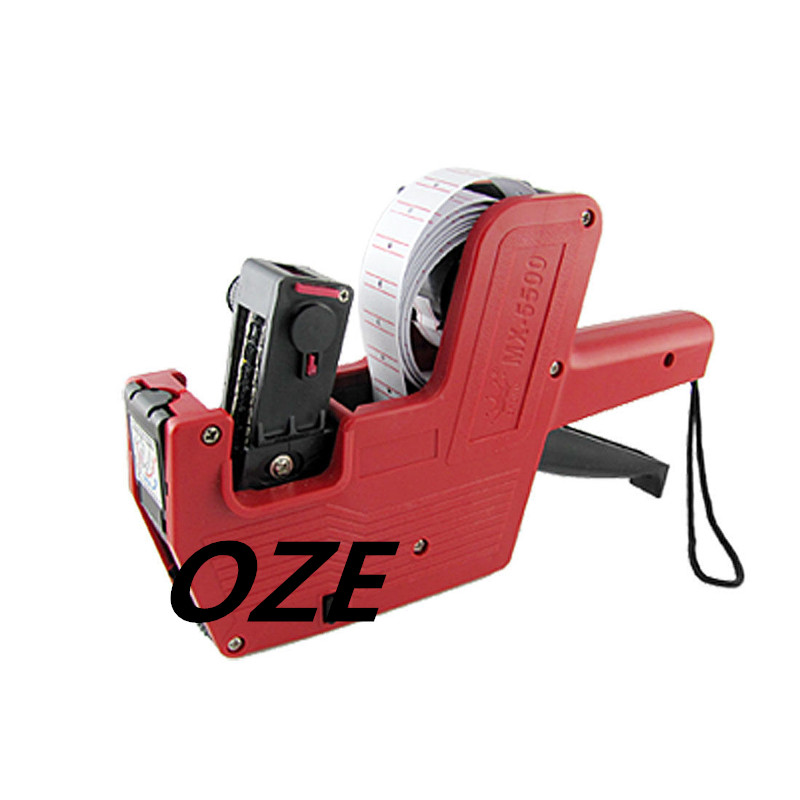 1PCS Supermarket Red Hand Held Price Tag Labeller Gun Tool