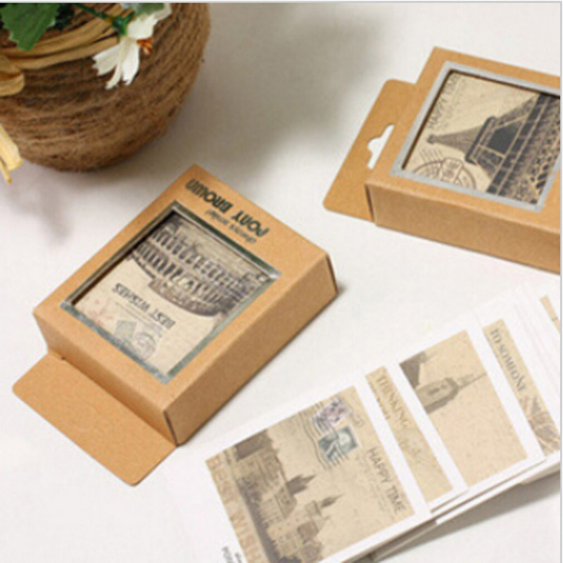 40 pcs/lot Mini Vintage Retro Lomo PostCards Creative Post Greeting Cards for Birthday Holiday Free shipping 805