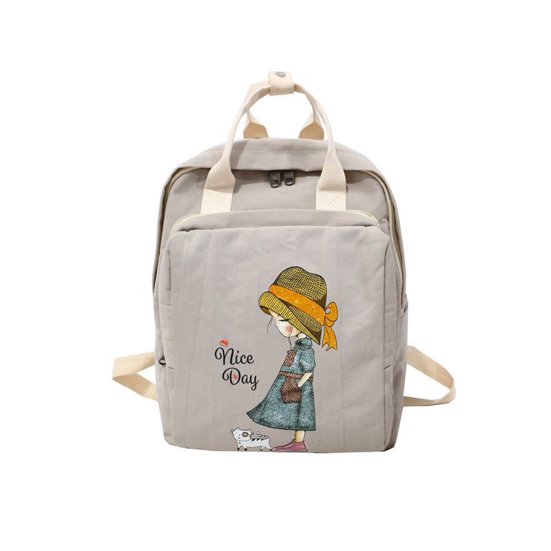Kanken women backpack retro cartoon printing for School Teenagers Girls Stylish School Bag Ladies Casual Large Capacity School