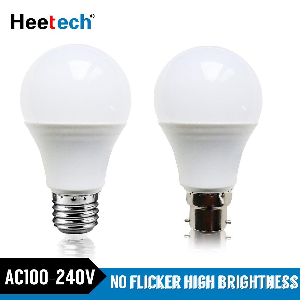 LED Bulb E27 B22 LED Lamp 3W 5W 7W 9W 12W 15W 18W B22 Lampada Bombilla 220V 230V 240V Cold/Warm White Led Led Light Blubs Lamps