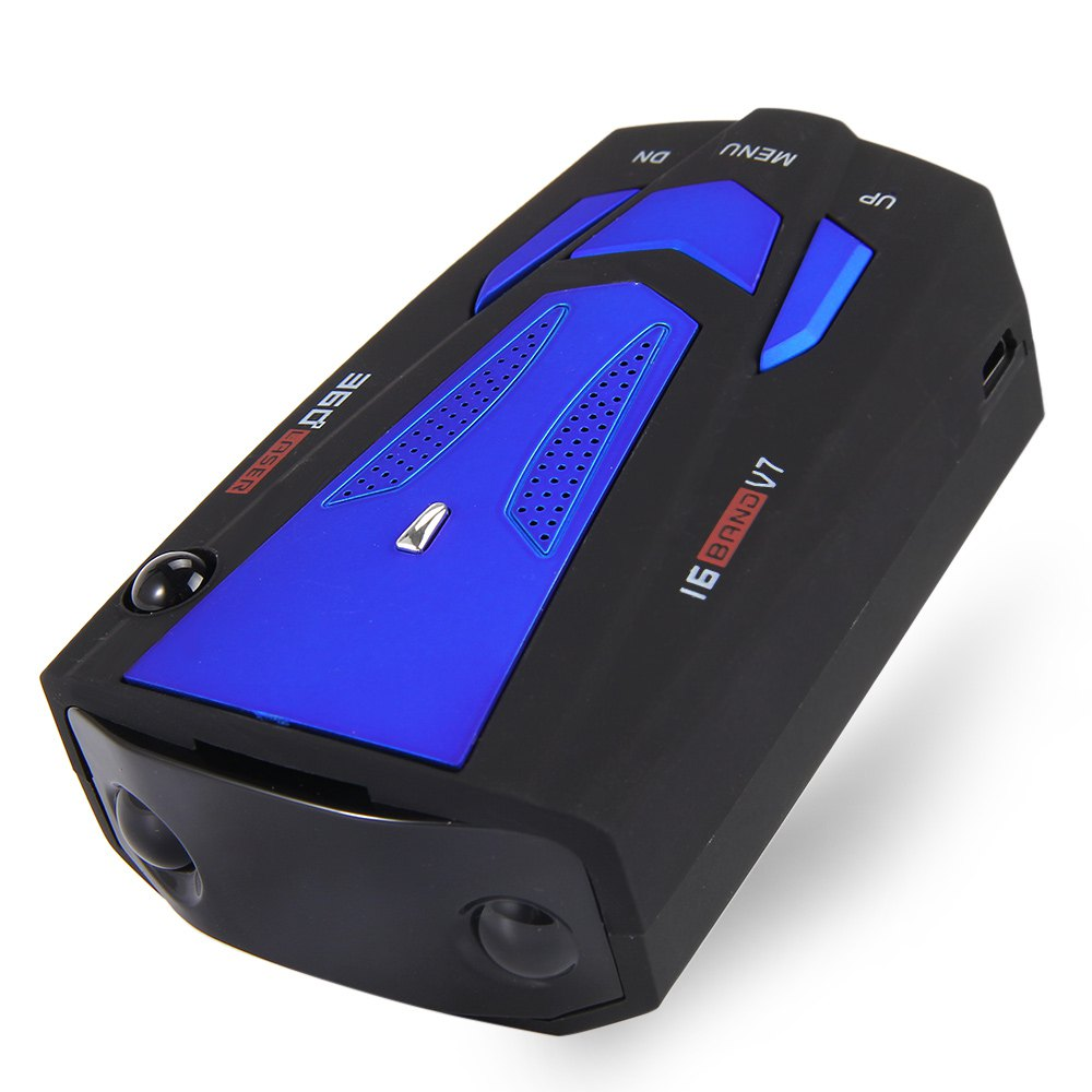 Vehicle Radar Detector 360 Degree Anti Car Control Detector V7 Speed Voice Alert Warning 16 Band Anti Car-detector