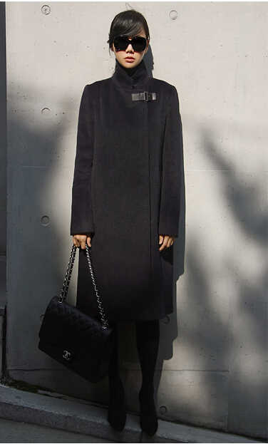 ... Women Cashmere Coat Spring Autumn Coats Long Fashion Elegant Wool  Trench Coat Camel Brown Black Overcoat ... f39b7914f