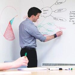 PVC Whiteboard Aufkleber Kreative Nachricht DIY Weiß Bord Aufkleber Schreibwaren Memo Kinder Geschenk Wandaufkleber 45*200 cm