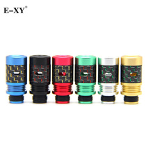 E-XY Carbon Fiber 510 Drip Tips with Heat Sink Mouthpieces Fit for Electronic Ecigarette 510 Atomizer vape Tank