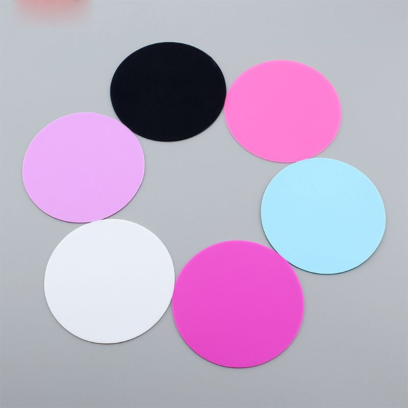 UV Resin Frame Round Pad Color Tone Pigment Palette Silicone Pad Jewelry Tools
