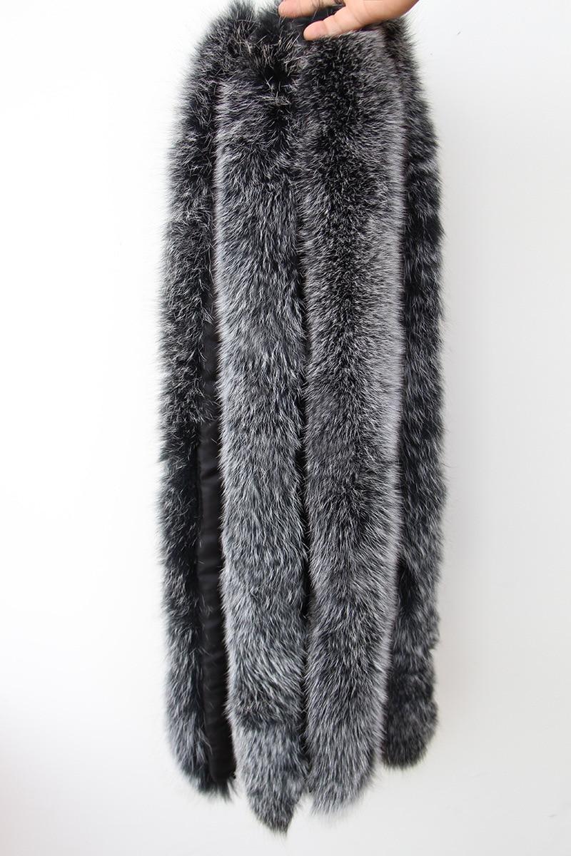 100% natürliche echte Fuchspelzkragen Frauen Schal Wintermantel Neck - Bekleidungszubehör - Foto 6