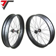 TRIPS chinese carbon fat bike wheels 100mm rims 26er Snow Carbon Bicycle Wheels Beach Wheelset UD 32 holes carbon fatbike wheels(China)