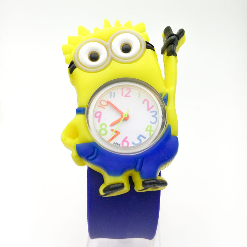 hot sale cartoon watch kids Silicone wristwatch child boy clock girl Despicable Me minion children reloj ninos montre enfant