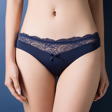 Europe and America size font b women b font sexy lace panties seamless cotton breathable panty